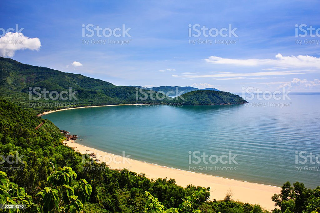 Nam Chon bay, Hai Van pass, Da Nang, Vietnam stock photo