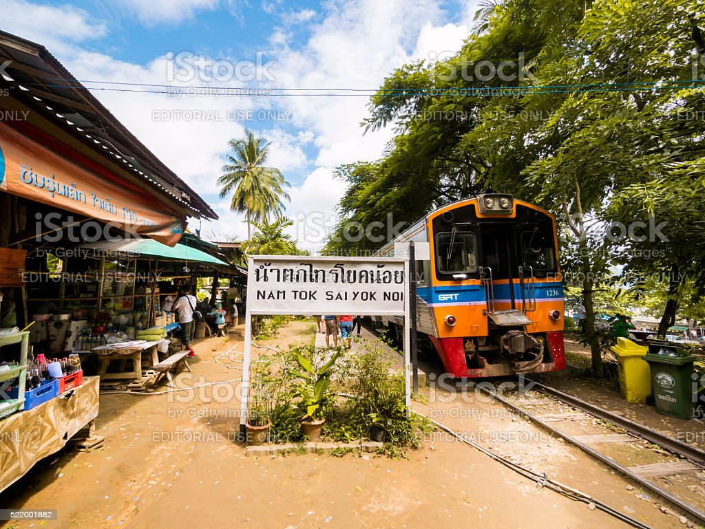 Nam Tok Railway in Kanchanaburi, Thailand stock photo