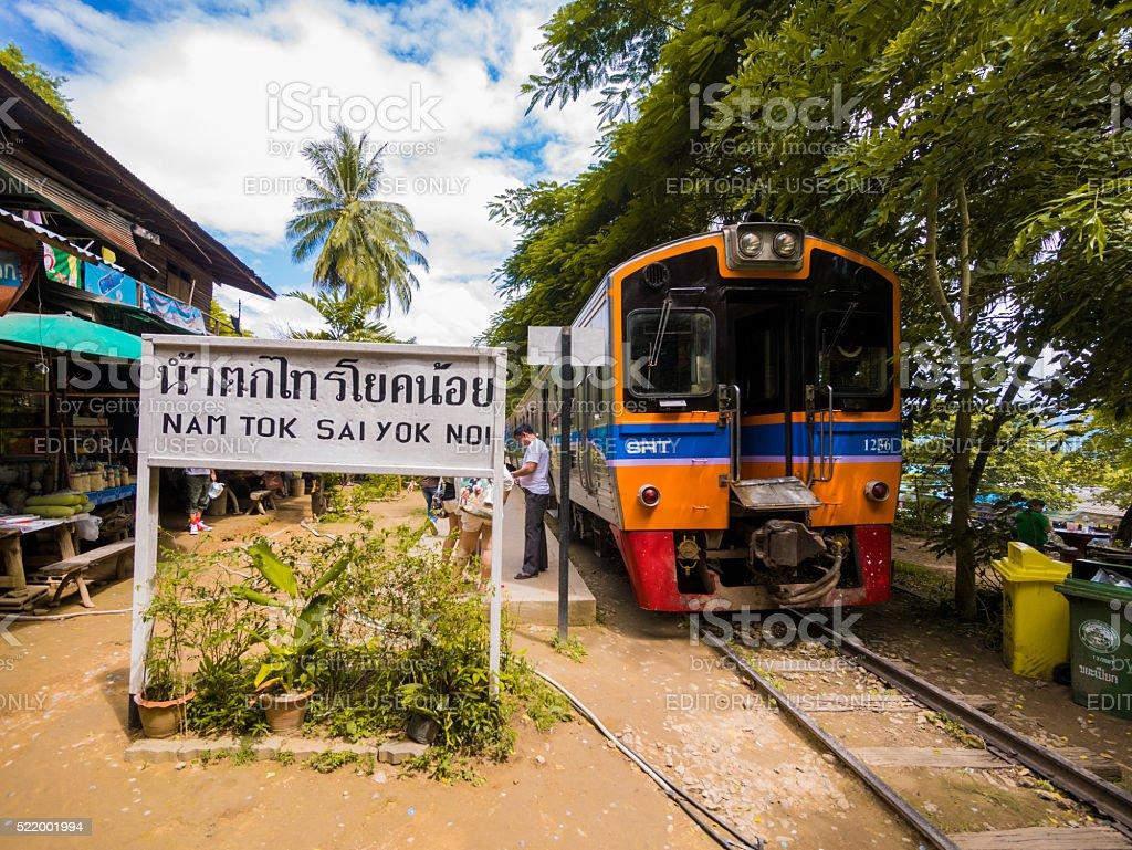 Nam Tok Railway in Kanchanaburi, Thailand stock photo