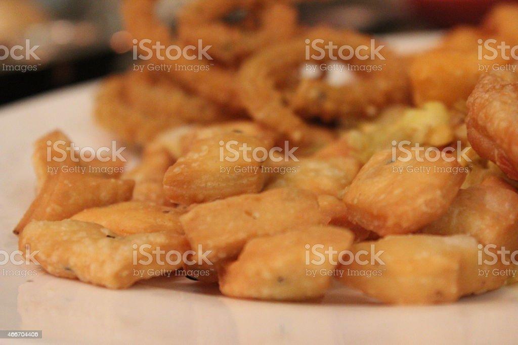 namak pare and diwali snacks royalty-free stock photo