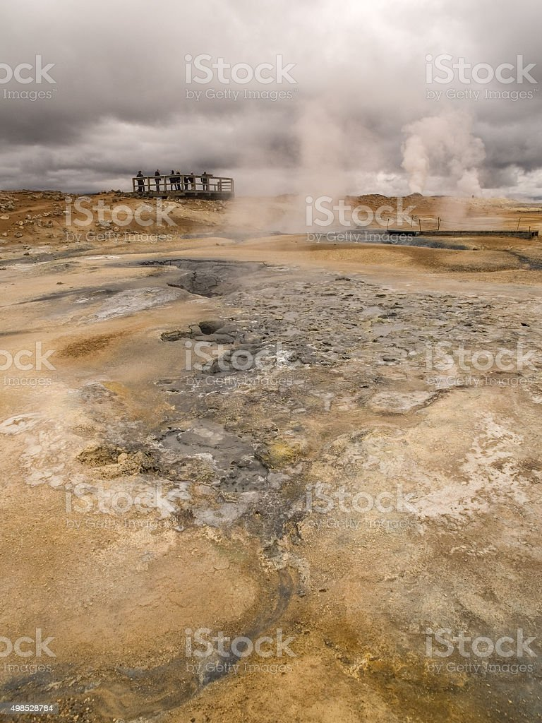 Namaskard Myvatn Iceland stock photo