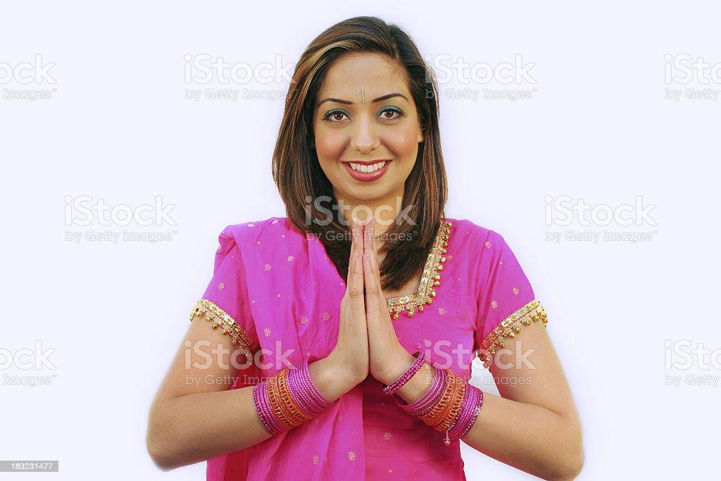 Namaste - Welcome royalty-free stock photo