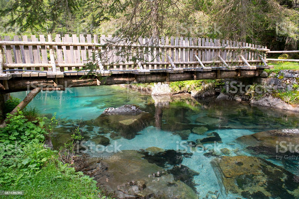 Nambrone Valley, Dolomites of Brenta stock photo
