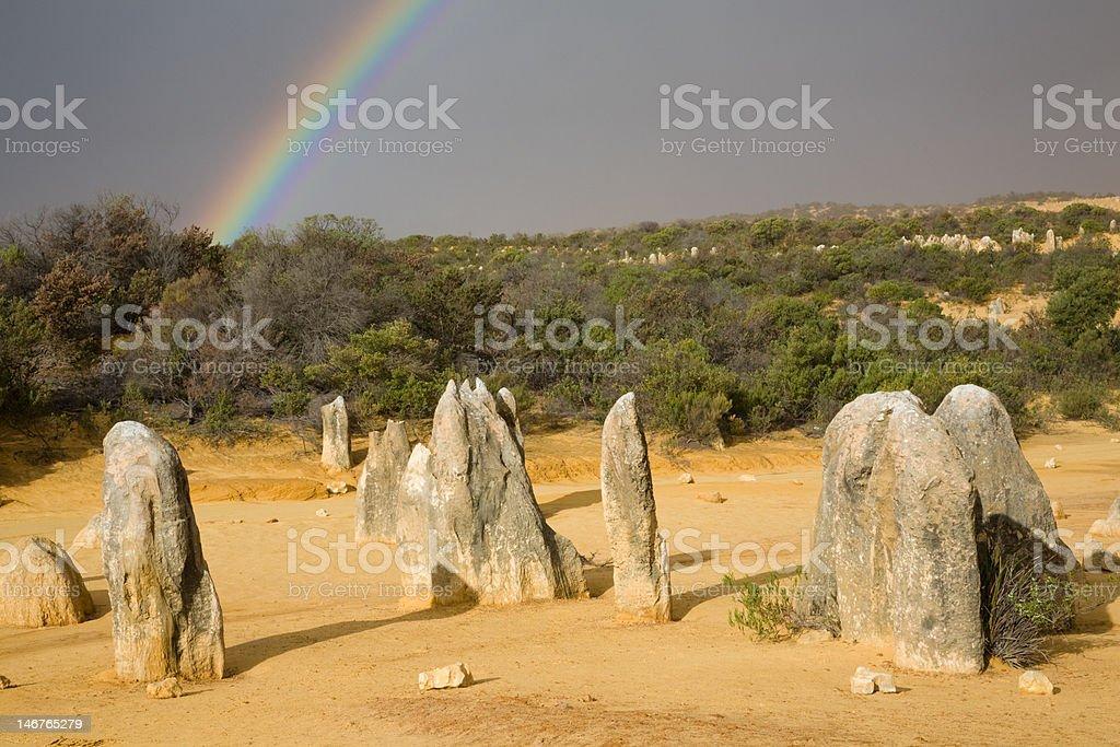 Nambung Rainbow stock photo