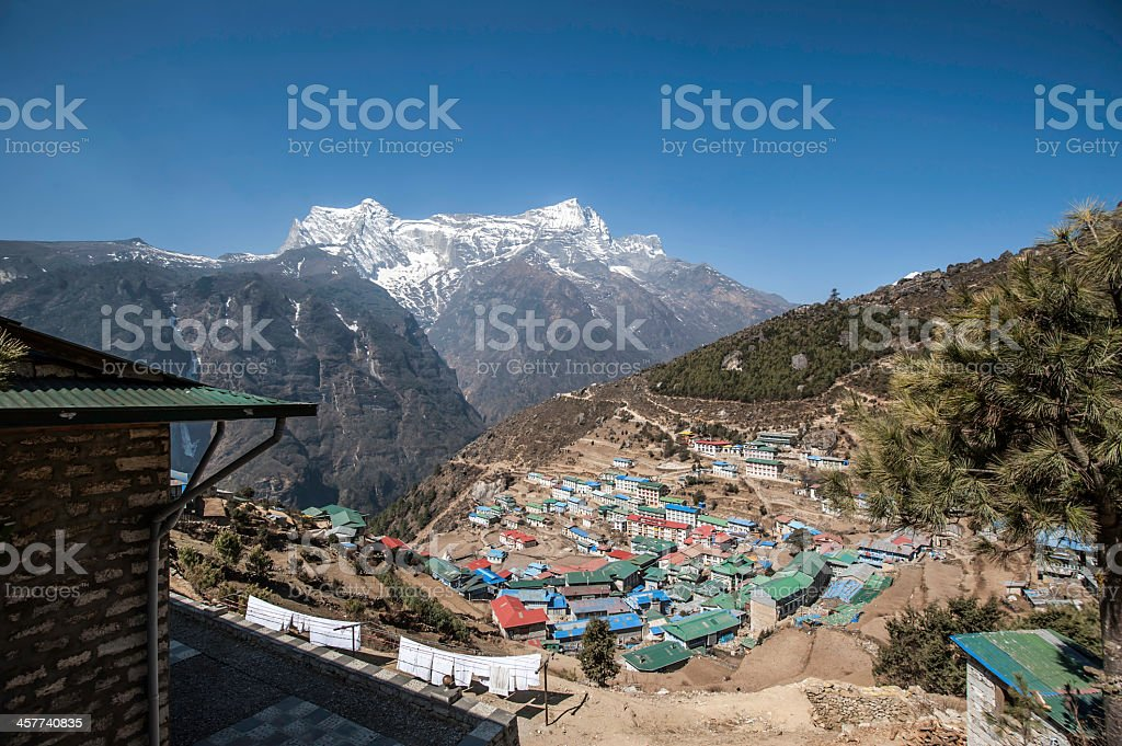 Namche Bazaar, Nepal, Himalayas stock photo