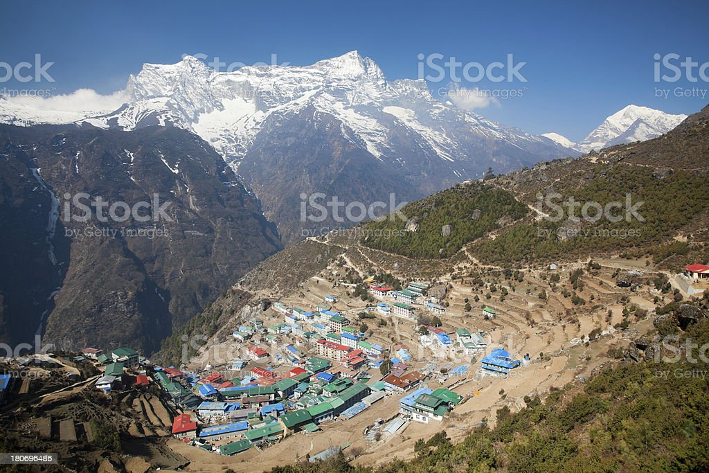 Namche Bazaar, Nepal royalty-free stock photo
