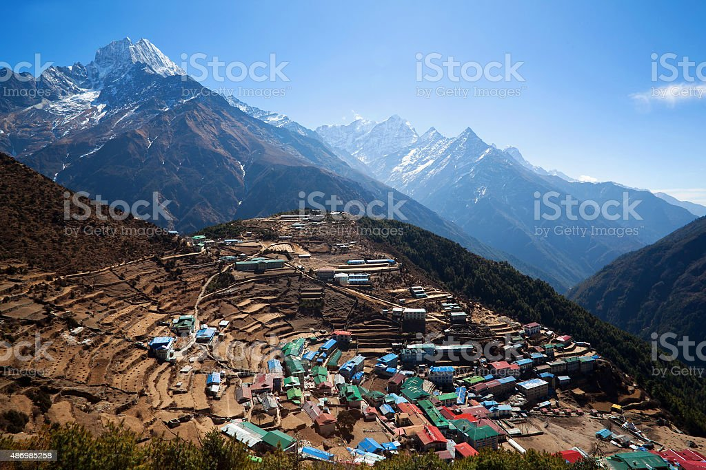Namche Bazaar, Nepal stock photo