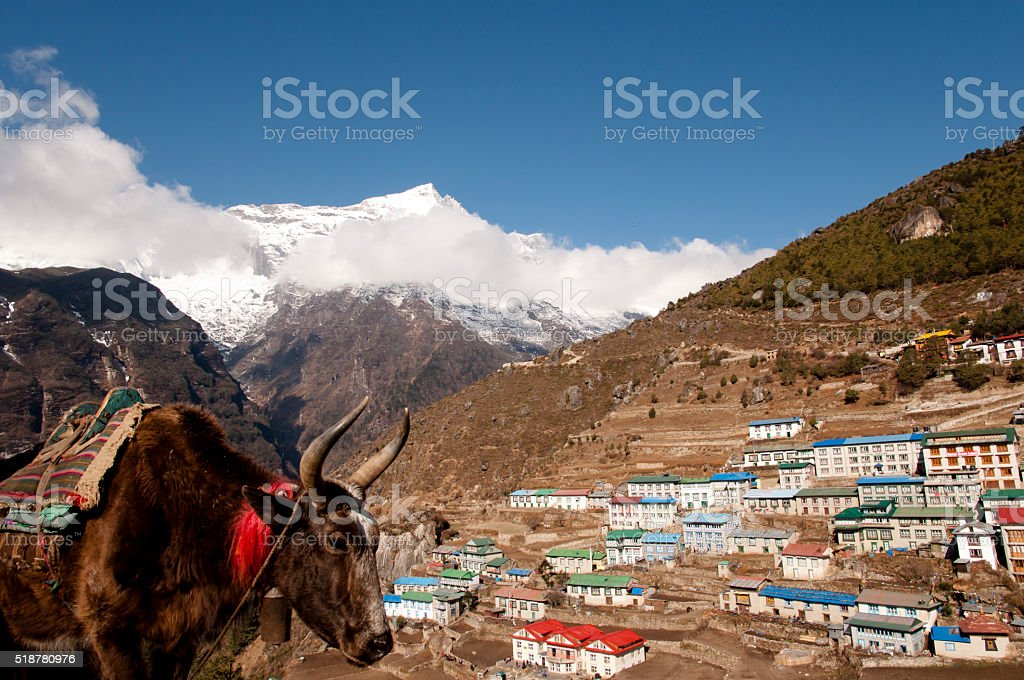Namche Bazaar Village - Nepal stock photo