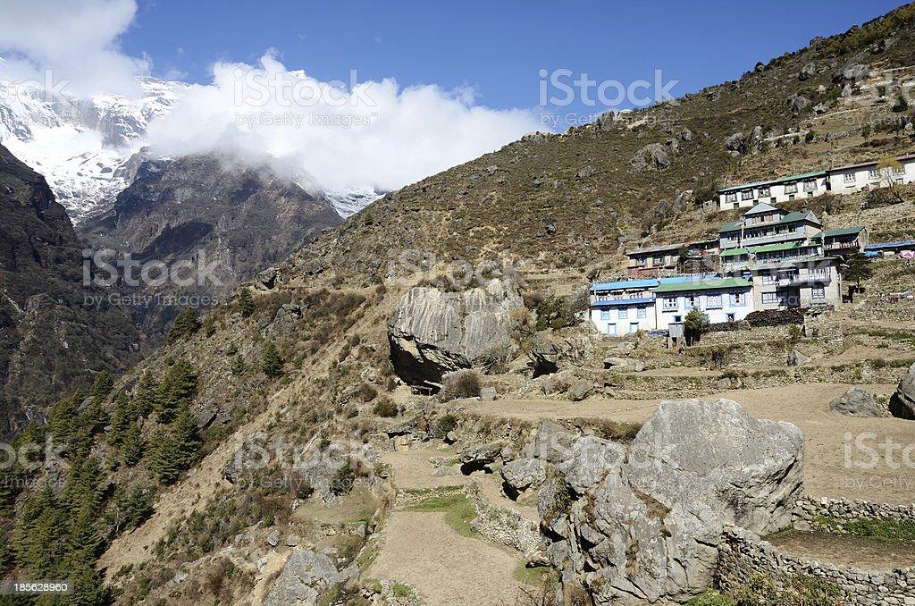 Namche Bazar - capital of sherpas ,Sagarmatha region,Nepal,Asia royalty-free stock photo