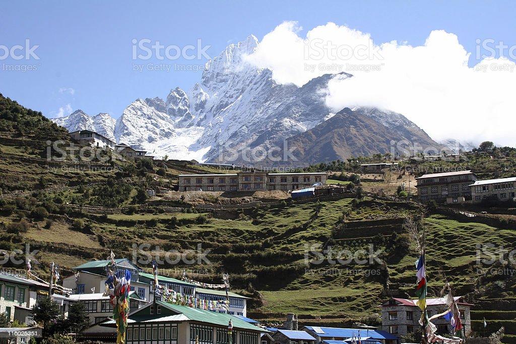 Namche Bazar - Nepal stock photo
