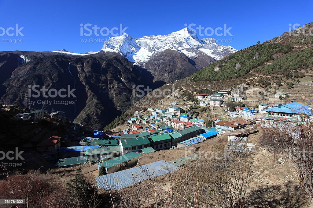 Namche Bazar stock photo
