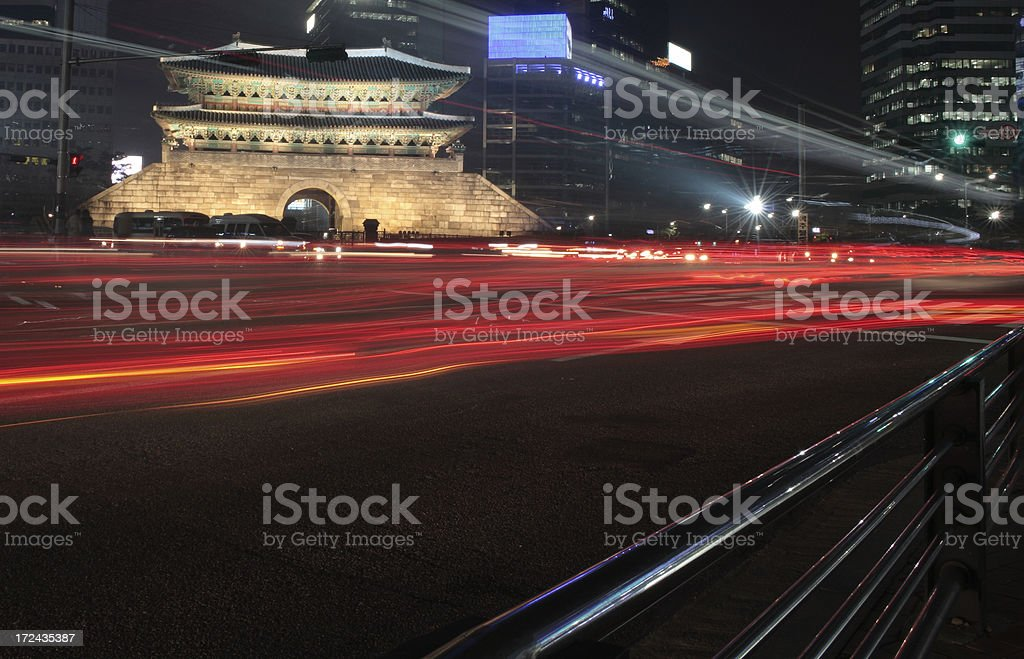 Namdaemun Gate in Seoul royalty-free stock photo