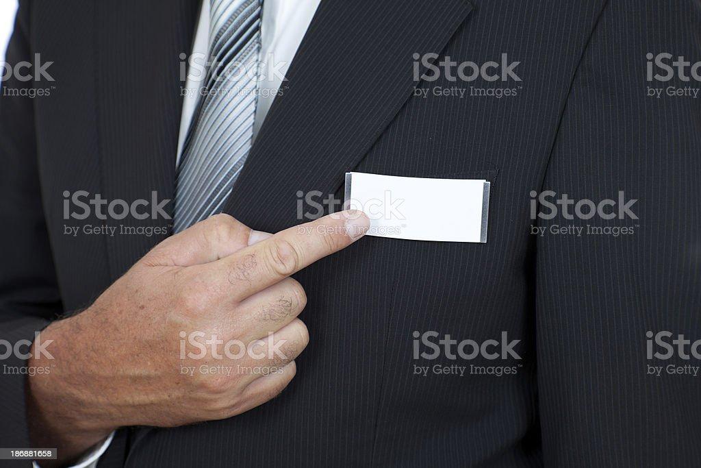name badge stock photo