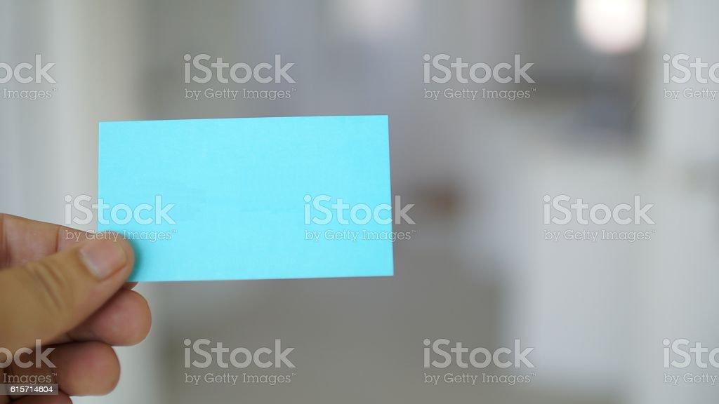 name card stock photo