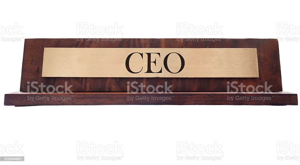 CEO name plate stock photo