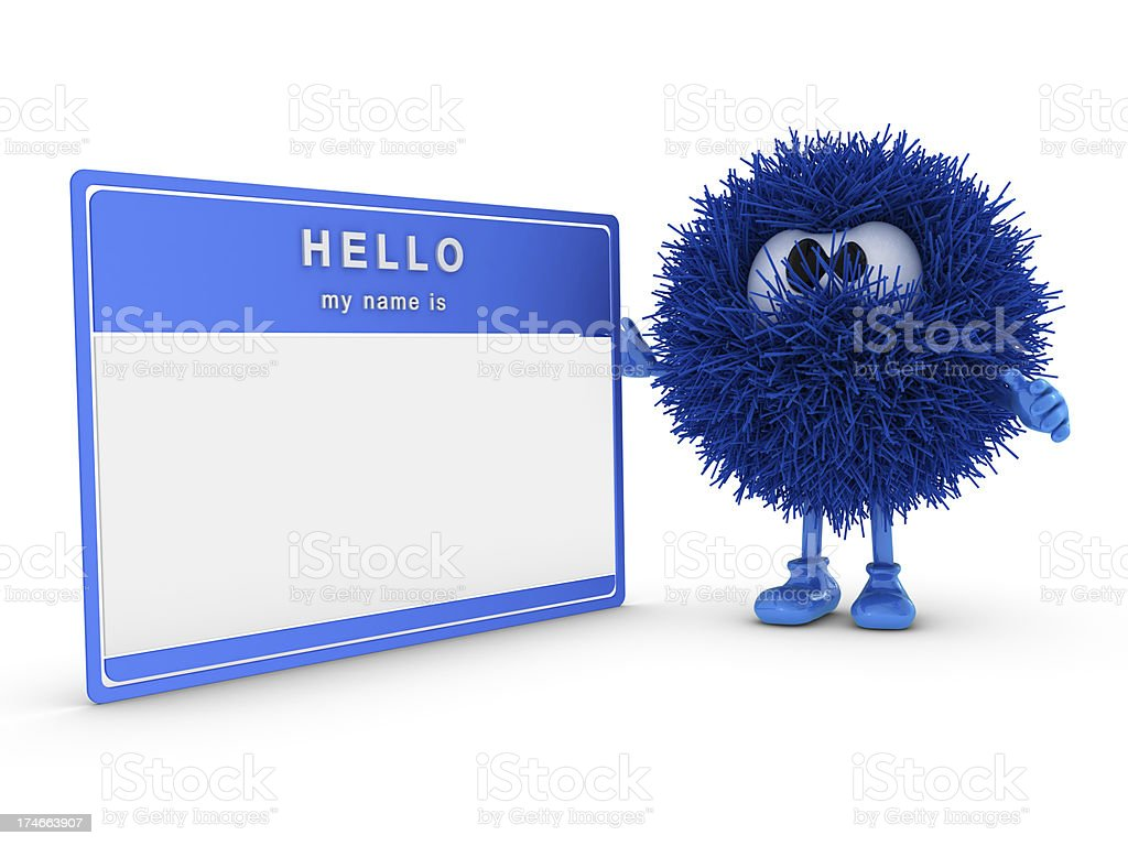 Name Tag and Sphefur royalty-free stock photo