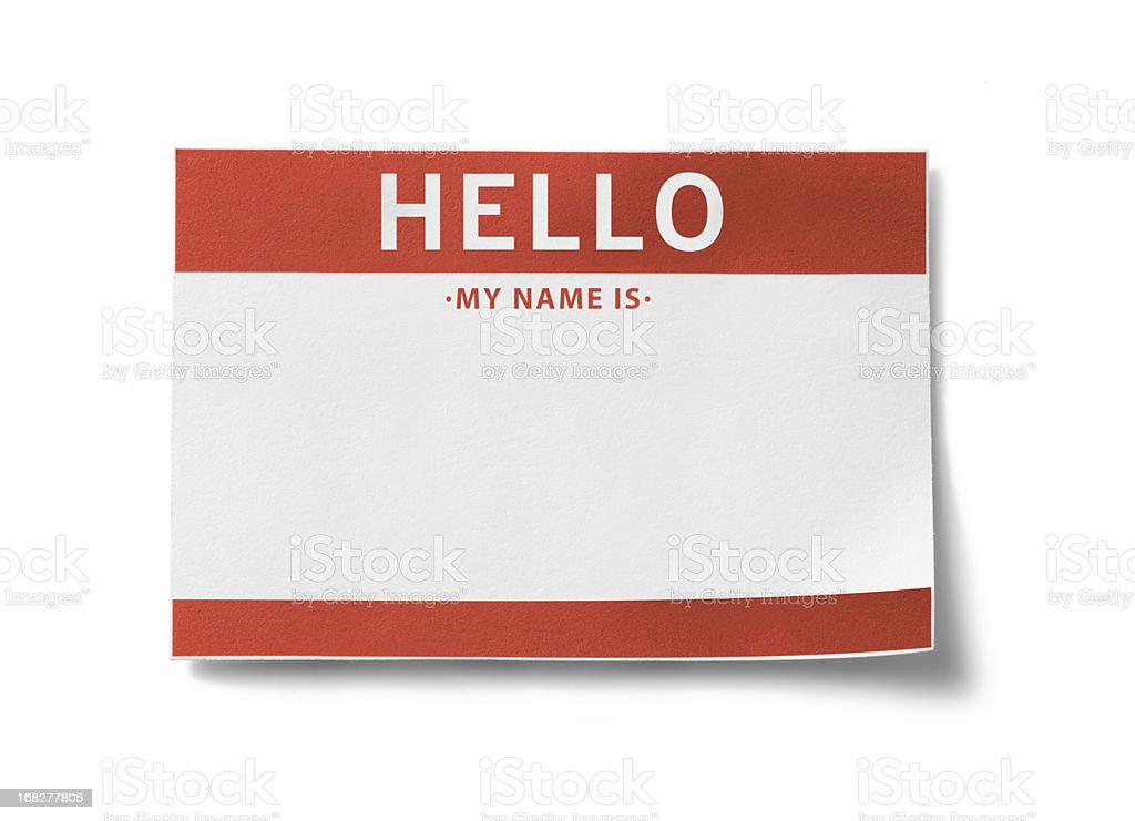 Name Tag (with clipping paths) stock photo