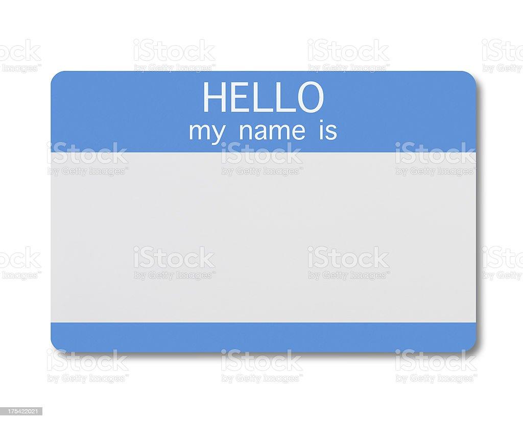 Name Tag stock photo