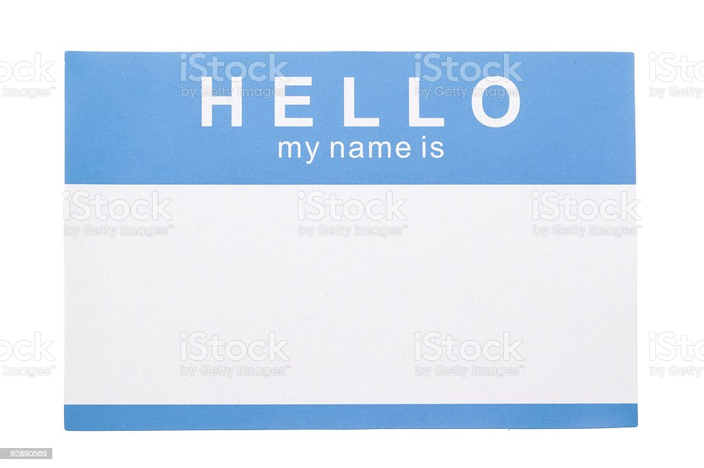 Name Tag royalty-free stock photo