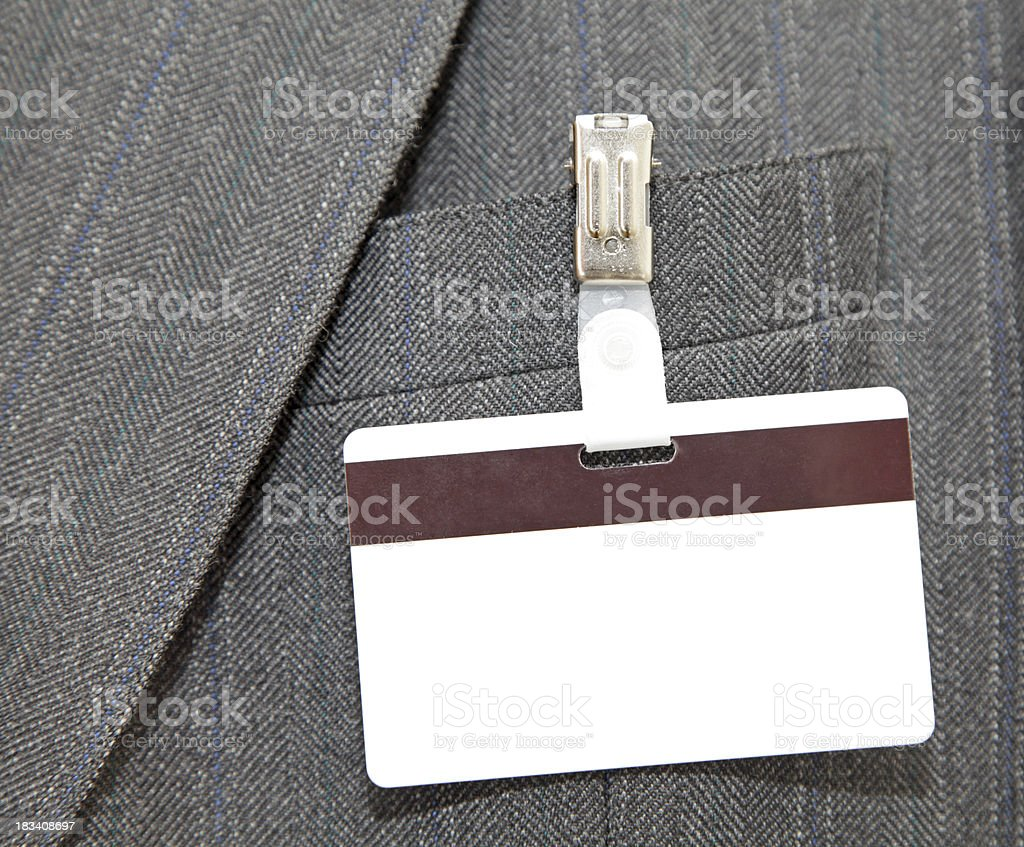 name tag with bar code royalty-free stock photo