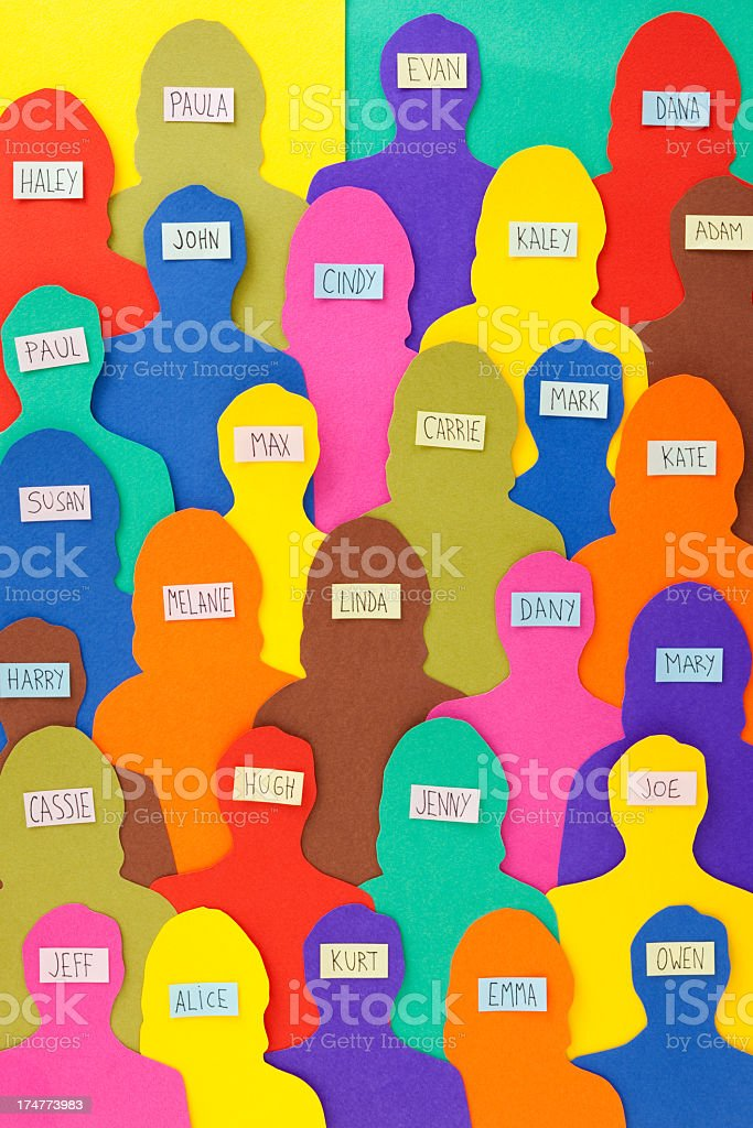 Named crowd royalty-free stock photo