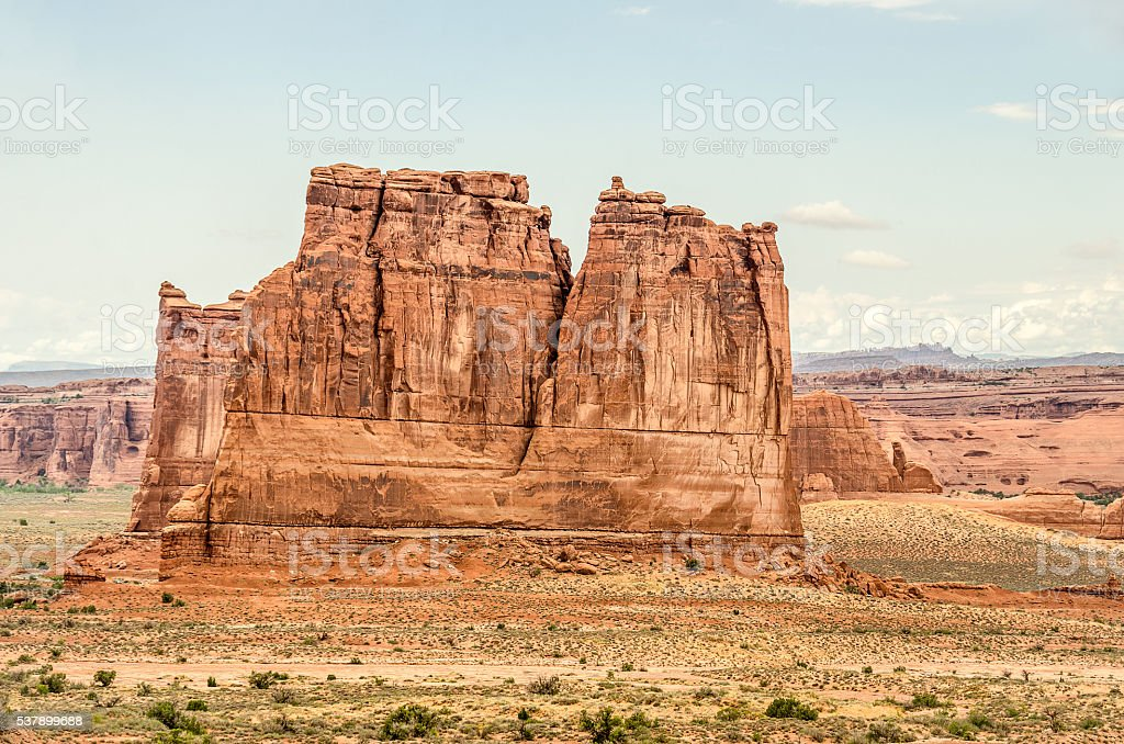 Named Rock Formations in Arches National Park stock photo