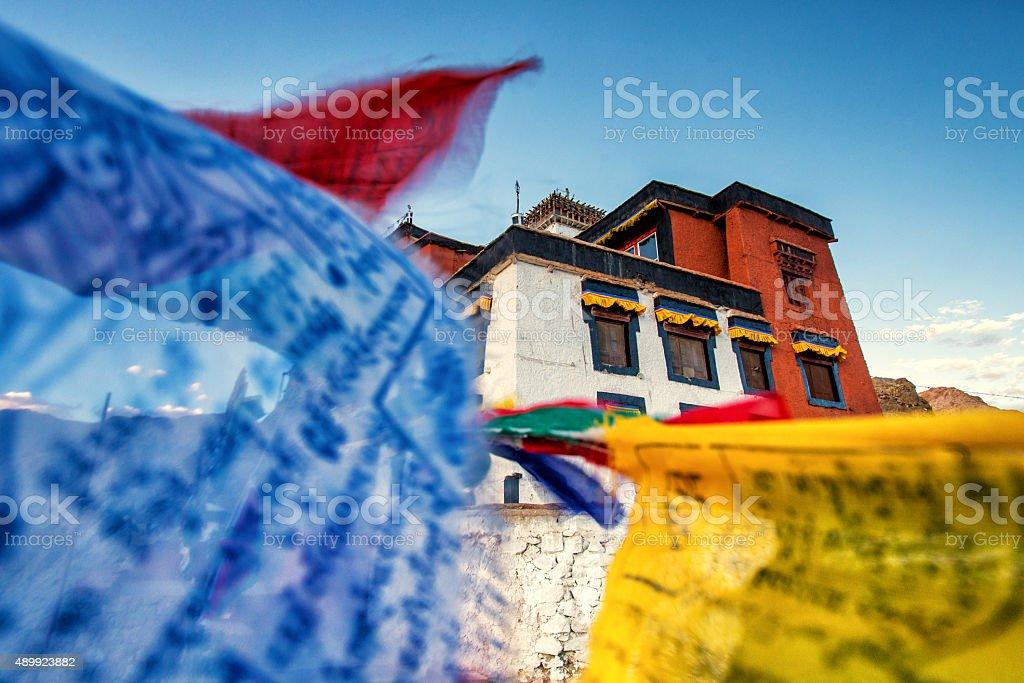 Namgyal Tsemo Gompa stock photo