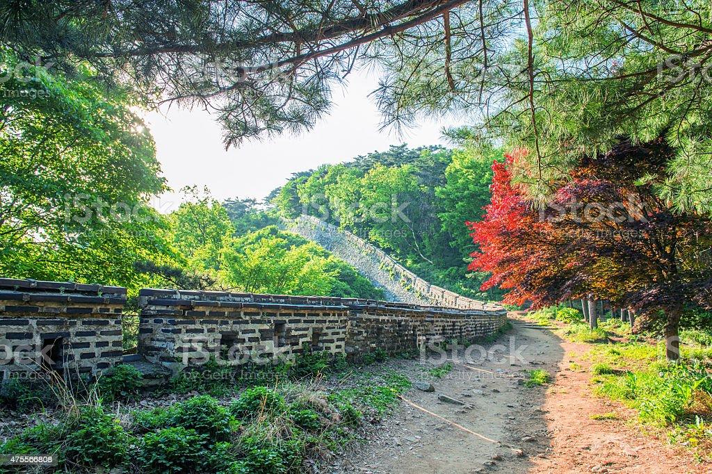 Namhansanseong Fortress in South Korea, stock photo