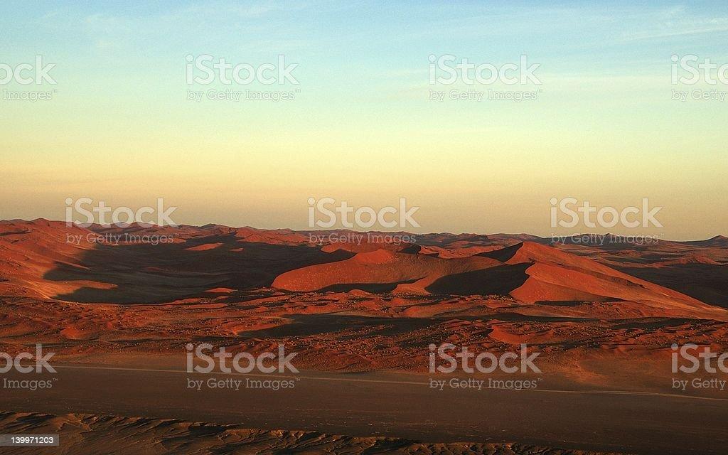 Namib landscape from balloon royalty-free stock photo