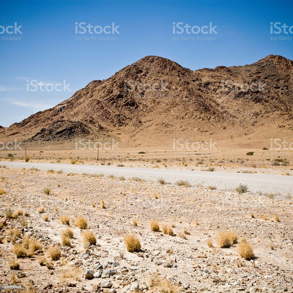 Namibia Deserted Road royalty-free stock photo