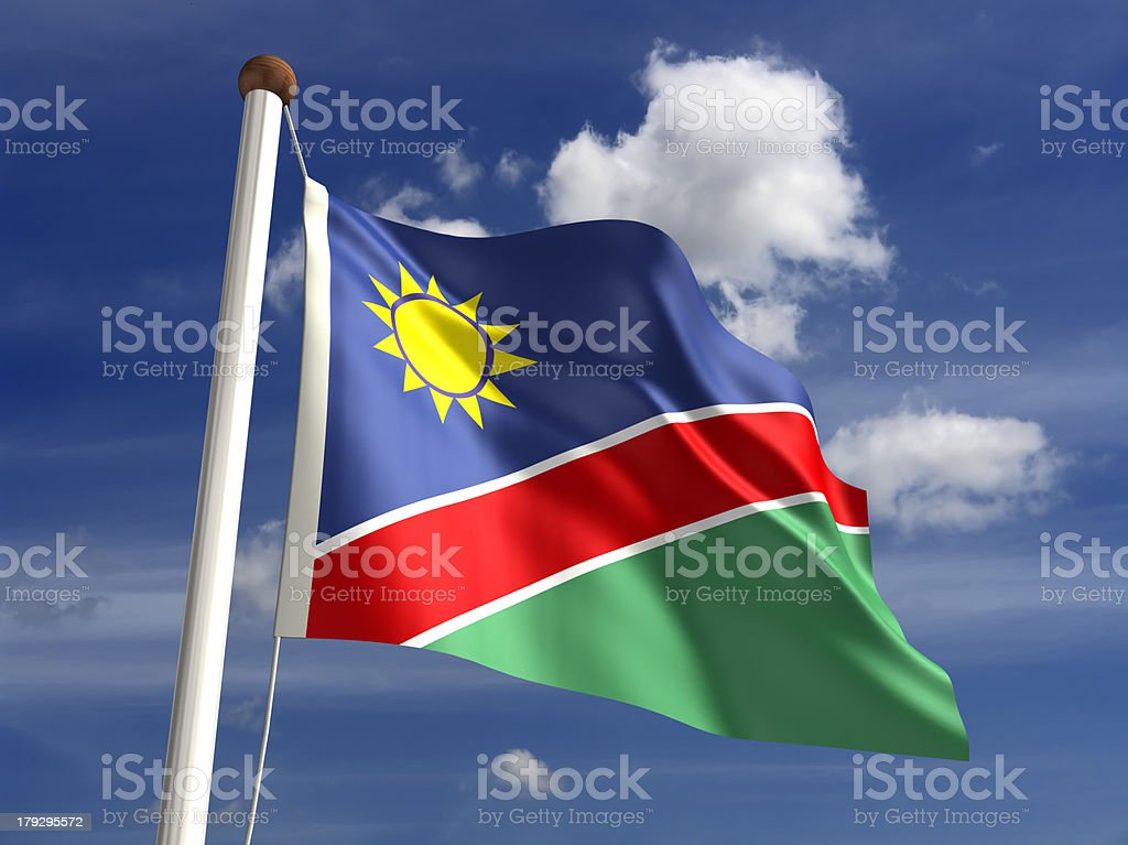 Namibia flag (with clipping path) stock photo
