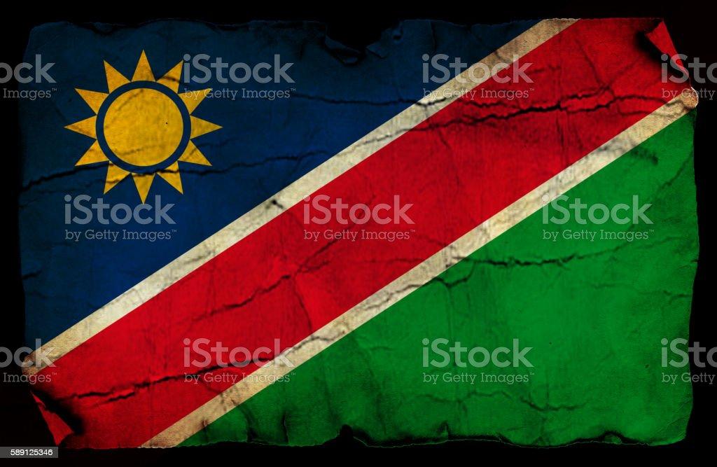 Namibia grunge flag stock photo