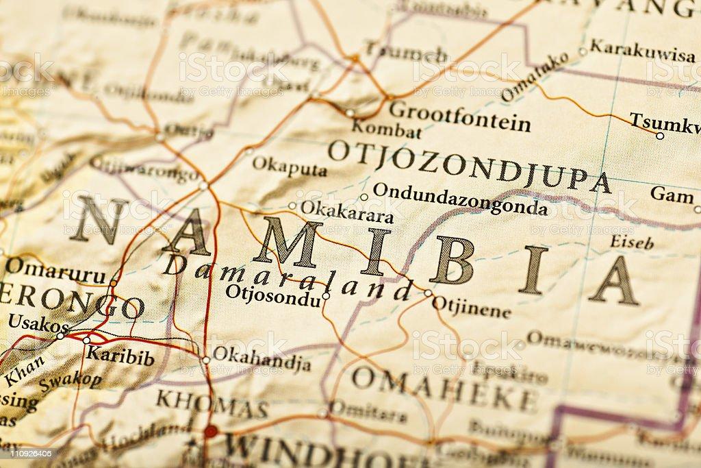 Namibia map stock photo