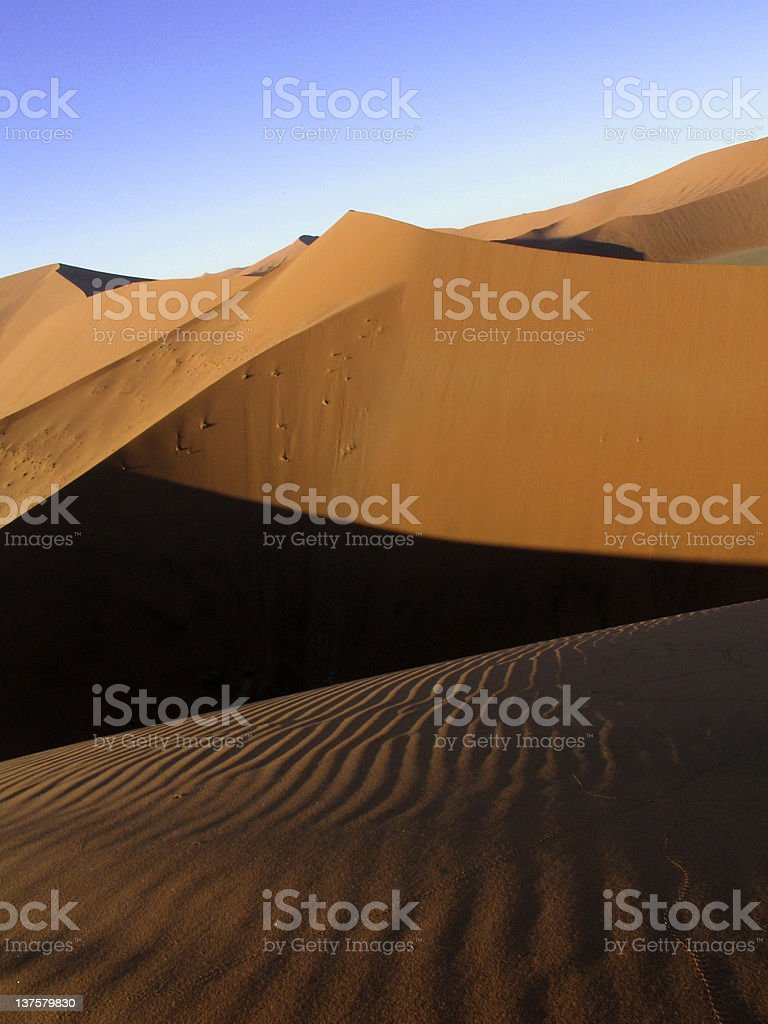 Namibia- Peak at Dune 47 royalty-free stock photo