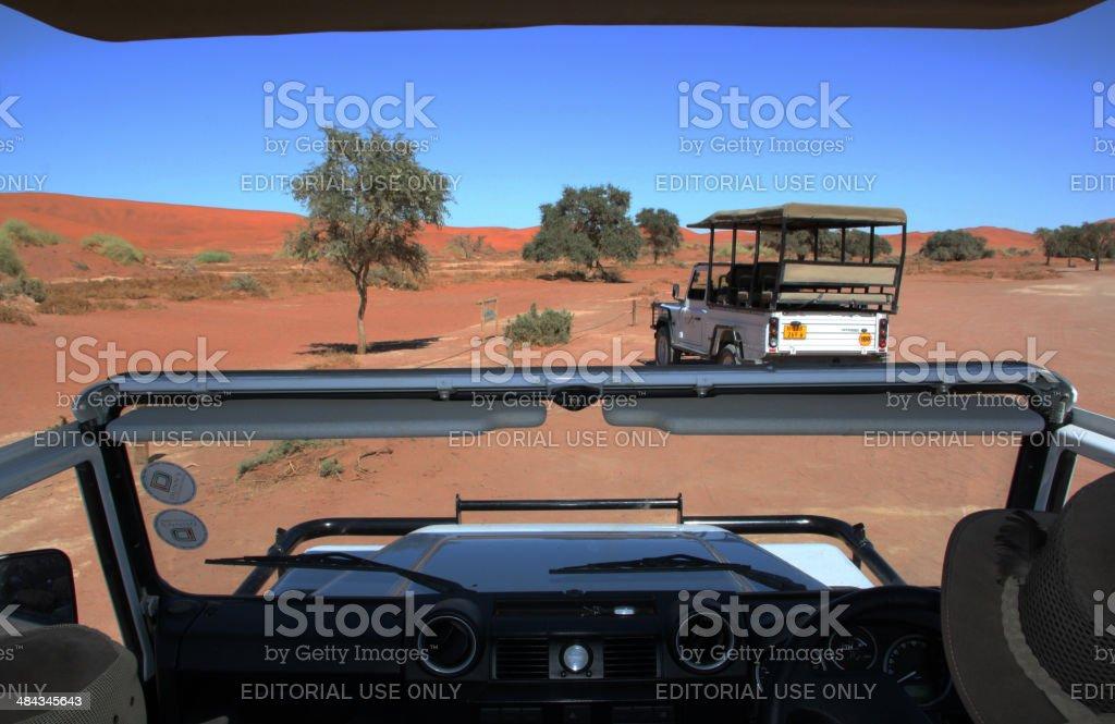 Namibia: Safari Drive in the Namib Desert stock photo