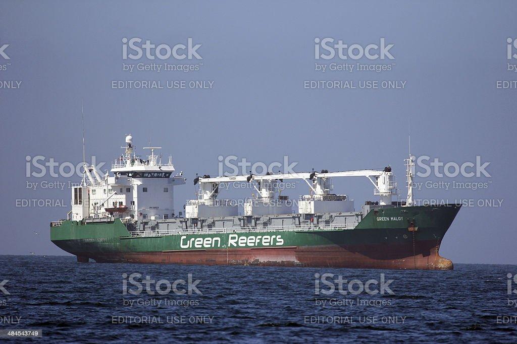 Namibia: Ship at Walvis Bay stock photo