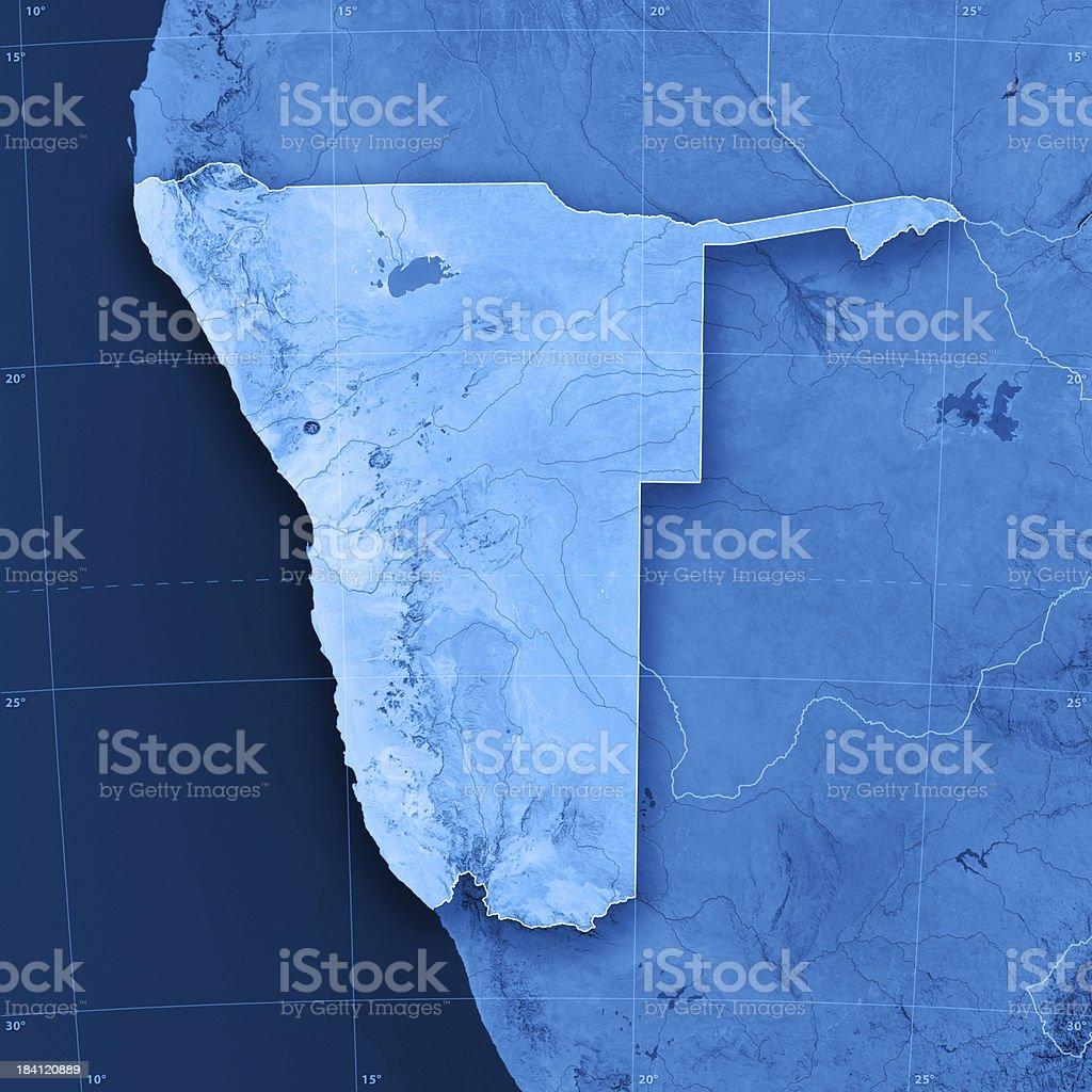 Namibia Topographic Map stock photo