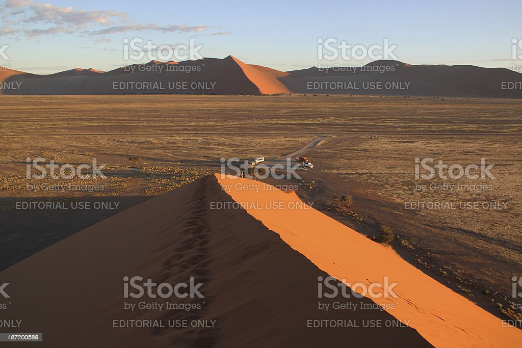 Namibia: View from Dune 45 in the Namib Desert stock photo