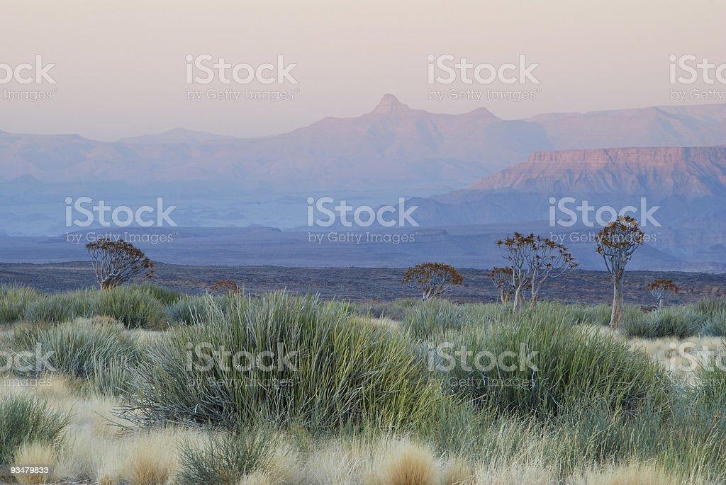 Namibian dawn stock photo