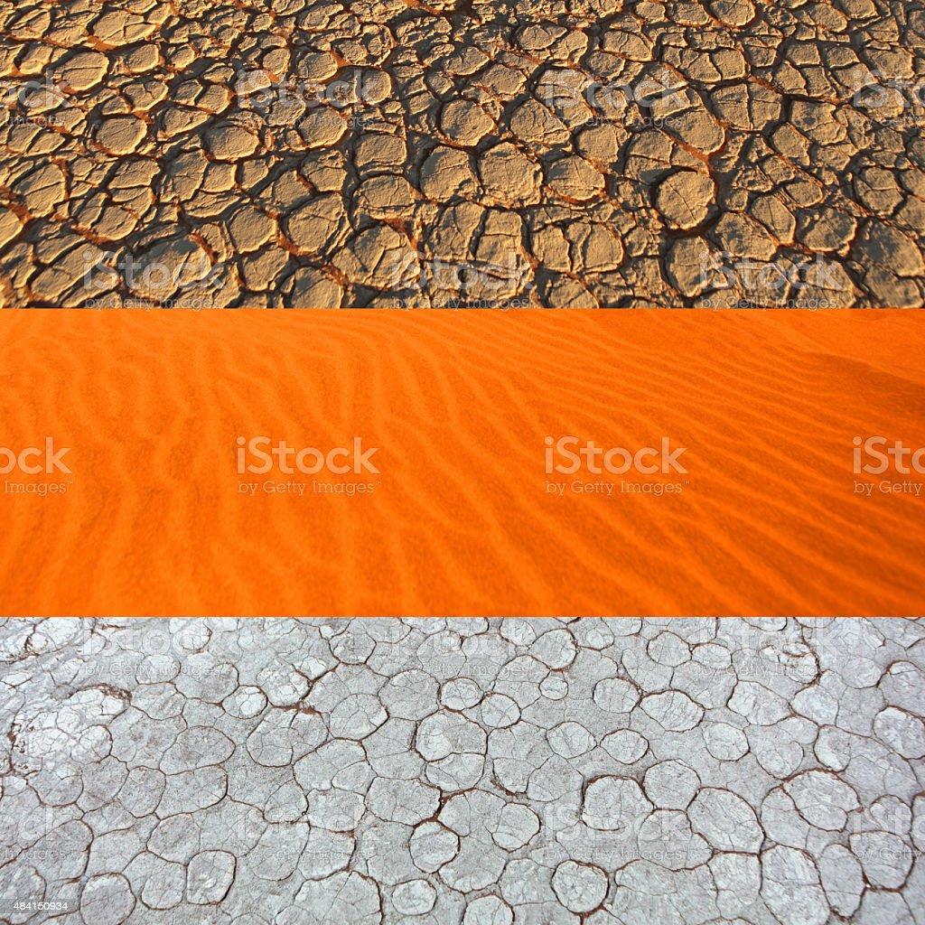 Namibian Desert Land Variety Background stock photo