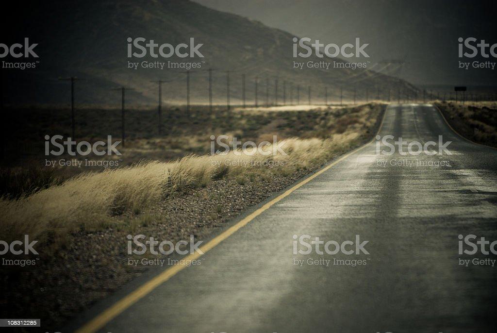 Namibian Desert road stock photo