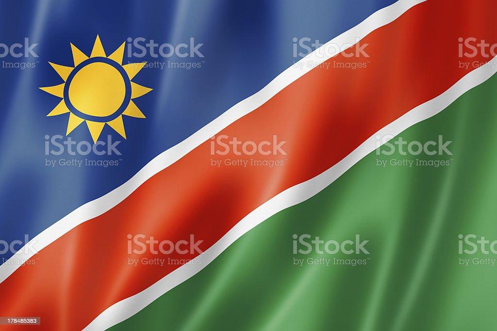 Namibian flag royalty-free stock photo