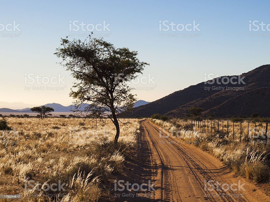Namibian Landscape and Mountains royalty-free stock photo