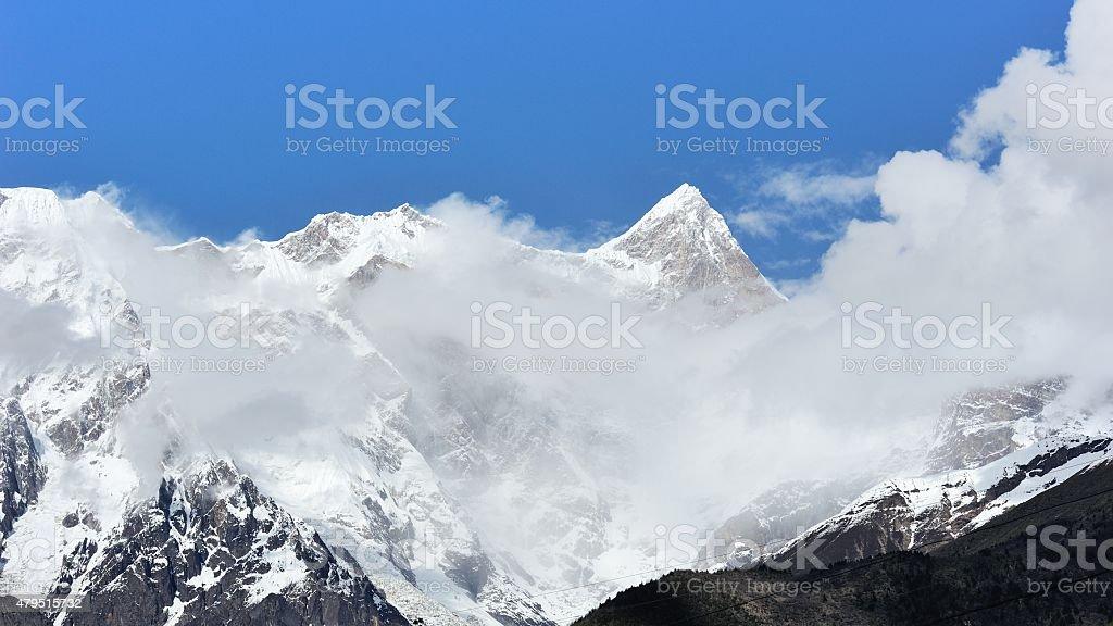 Namjagbrawa Peak in Tibet 03 stock photo