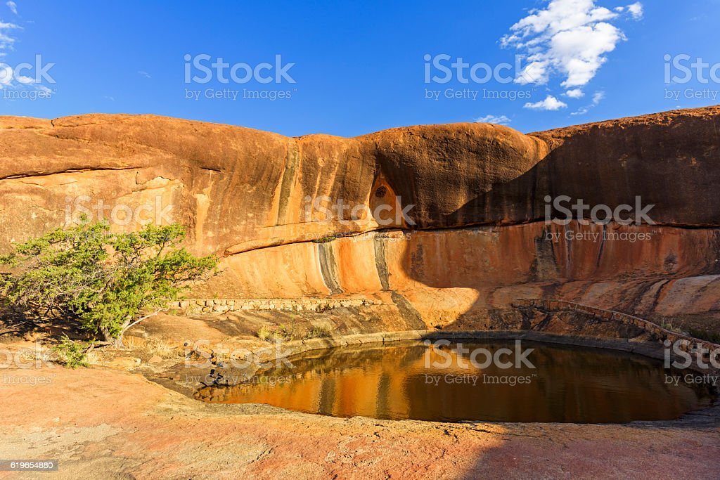 Namma Hole on Beringbooding Rock, West Australia stock photo