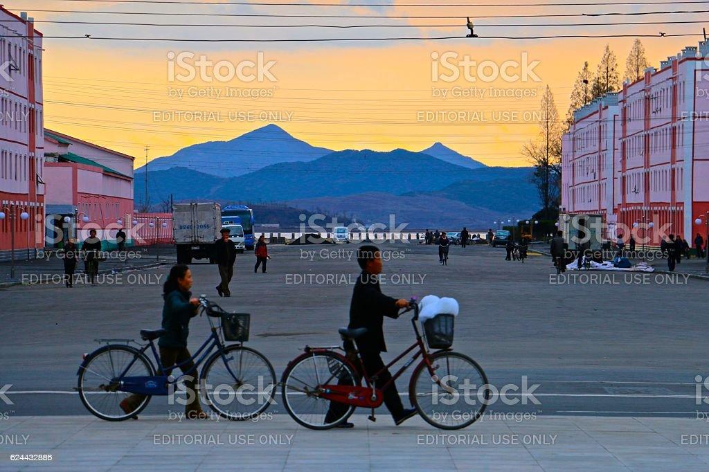 Nampo, North Korea stock photo