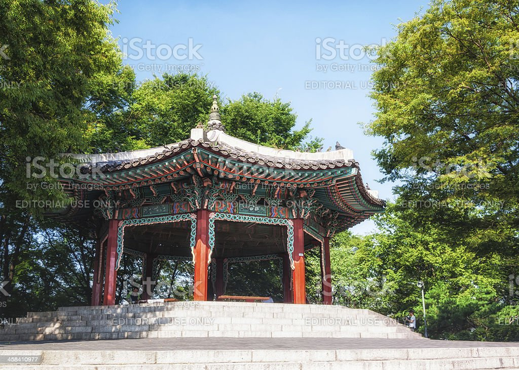 Namsan Pavilion royalty-free stock photo