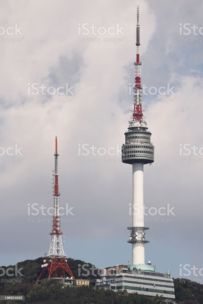 Namsan Tower Seoul South Korea royalty-free stock photo