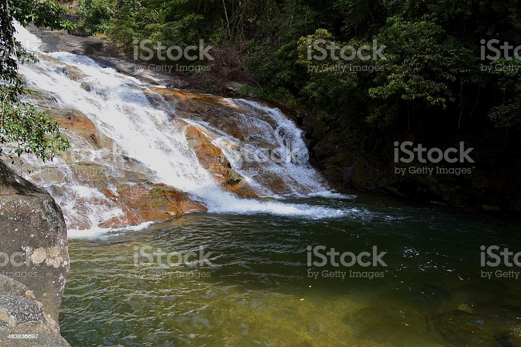 Namtok Ton Te Waterfall, Trang province stock photo