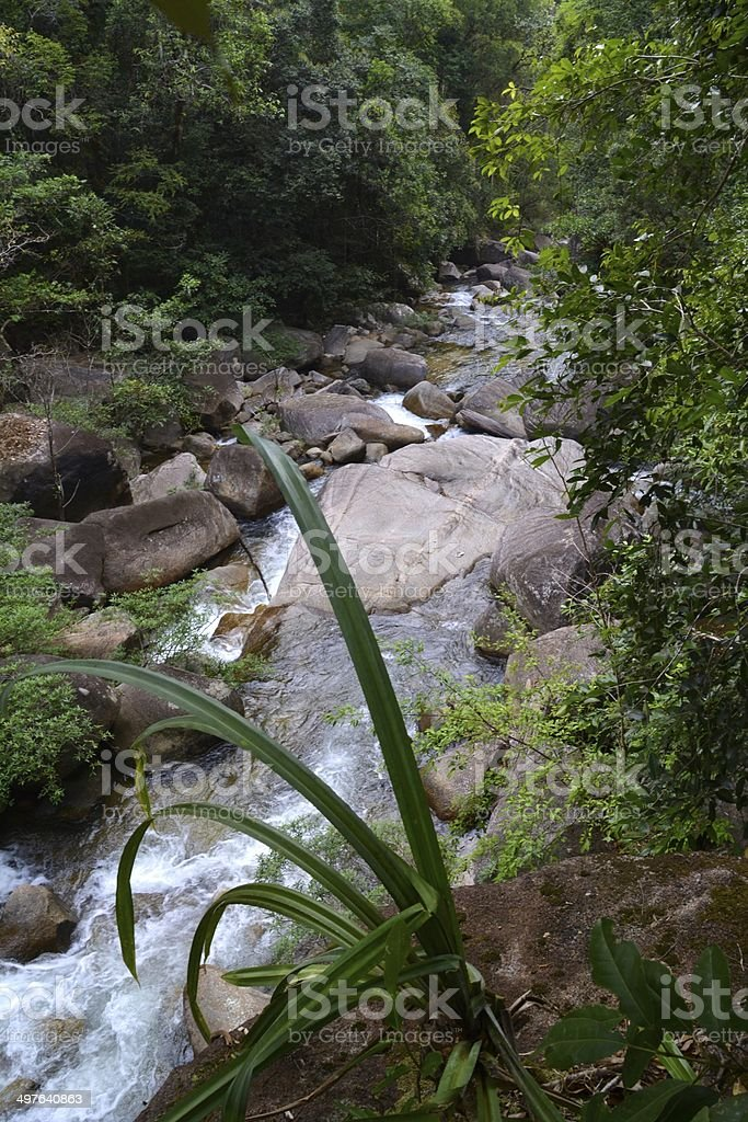 Namtok Ton Te Waterfall, Trang - Thailand stock photo